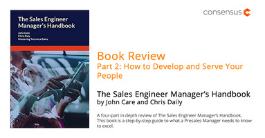 Book Review (Part 2): The Sales Engineer Manager's Handbook