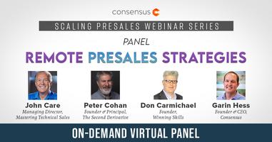 Panel: Remote Presales Strategies