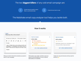 Email subject line & body copy analyzer tool