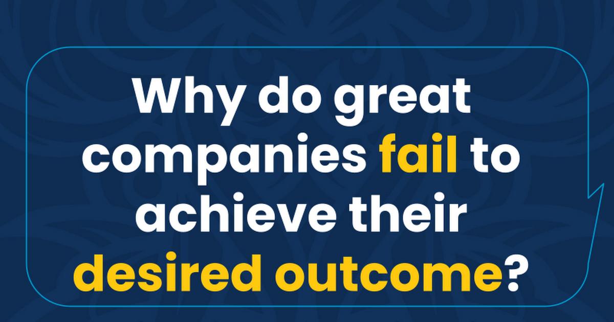 Why Do Great Companies Fail?