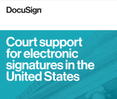 Court support for electronic signatures in the United States