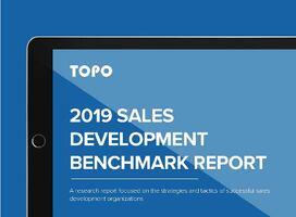 TOPO's 2019 Sales Development Benchmark Report