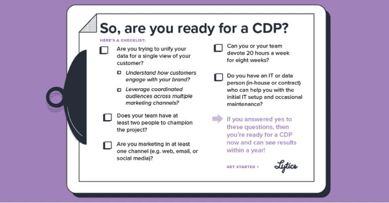 Customer data platform readiness checklist