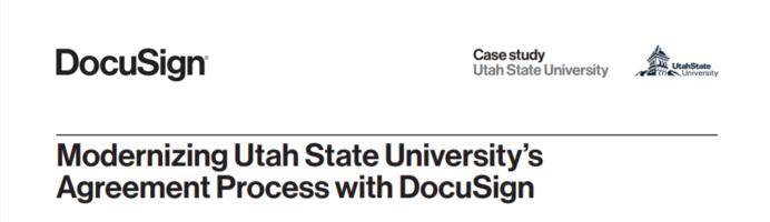 Modernizing Utah State University's Agreement Process with DocuSign