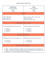 Free SLA Template for Marketing & Sales | Download Now
