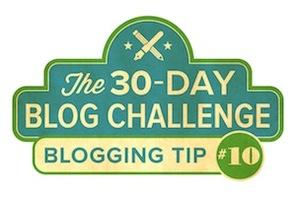 30-Day Blog Challenge Tip #10: Keep a Blog Journal