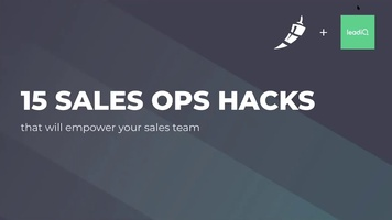Webinar: 15 Sales Ops Hacks with Chili Piper and LeadIQ