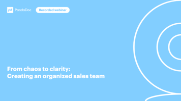 How to Structure a Sales Team (by PandaDoc & Insightly)