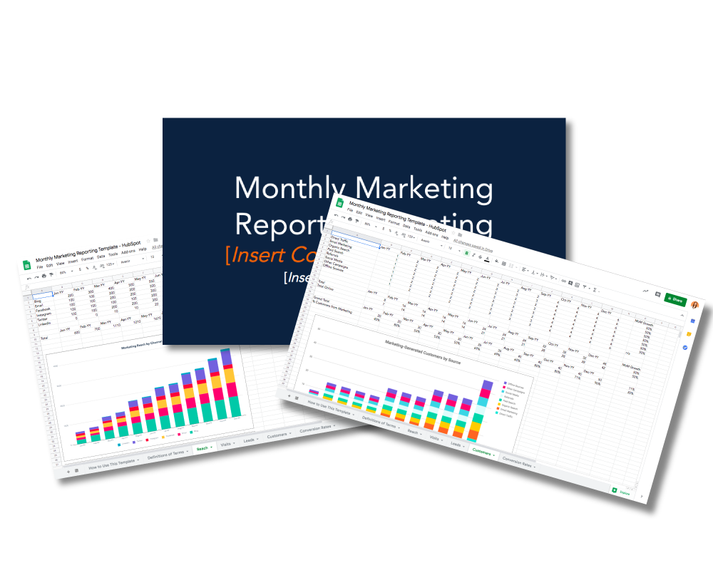 Monthly Marketing Reporting Templates - Free Download