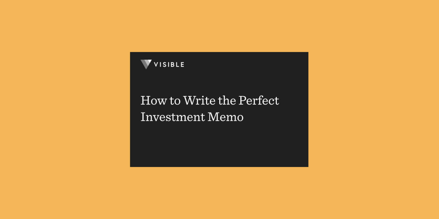 How to Write the Perfect Investment Memo