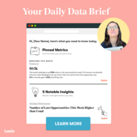 Lexio's Daily Data Brief   Personalized Insights Delivered to Your Inbox