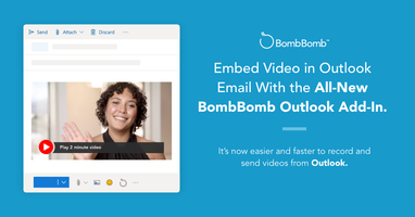 Embed Video in Outlook Email With the BombBomb Outlook Add-In
