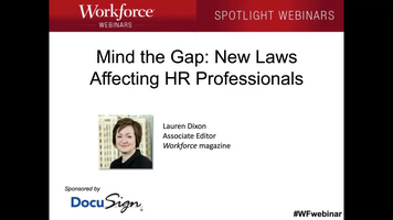 Mind the Gap: New Laws Affecting HR Professionals