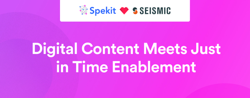 Spekit and Seismic - How to Build a Winning Enablement Strategy  Spekit