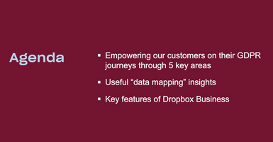 Dropbox & the GDPR: Using Dropbox Business on your journey to compliance