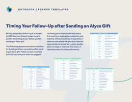 Prospecting Sequence Templates For Gifting | Alyce Blog