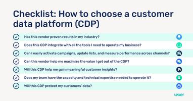 Checklist: How to choose a customer data platform (CDP)