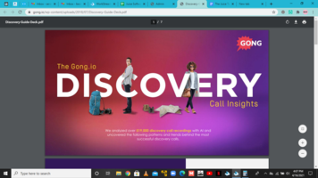 The Gong.io DISCOVERY  Calls Insights