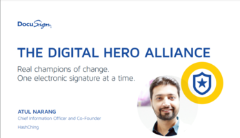Real champions of change. One electronic signature at a time.
