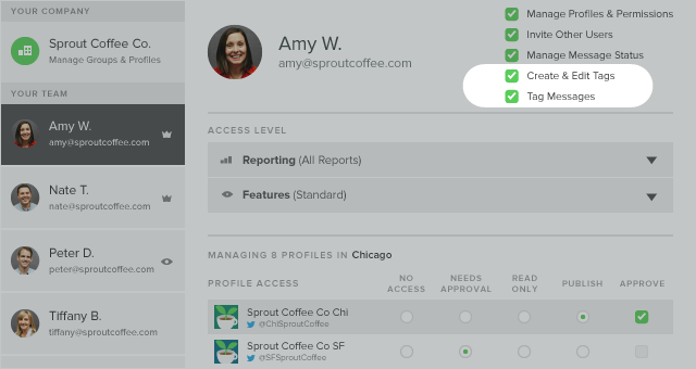 Designate Specific Users to Create and Manage Tags for Your Team