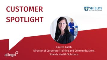 Allego Customer Spotlight: Shields Health Solutions