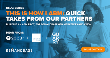 Partner Tips for Marketing Gen and CMOs on how to Pilot ABM