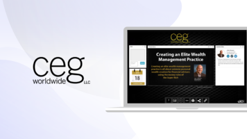 Case Study: CEG Worldwide Boost Conversions, Financial Coach with ON24