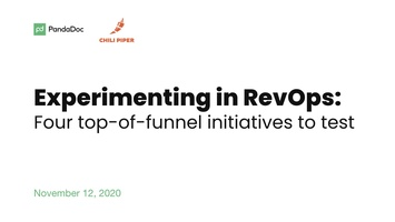 Experimenting in RevOps: 4 Top of Funnel Initiatives to Test