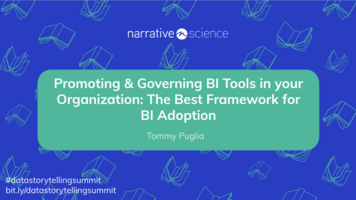 Promoting & Governing BI Tools in your Organization ft Tommy Puglia   Data Storytelling Virtual Summit