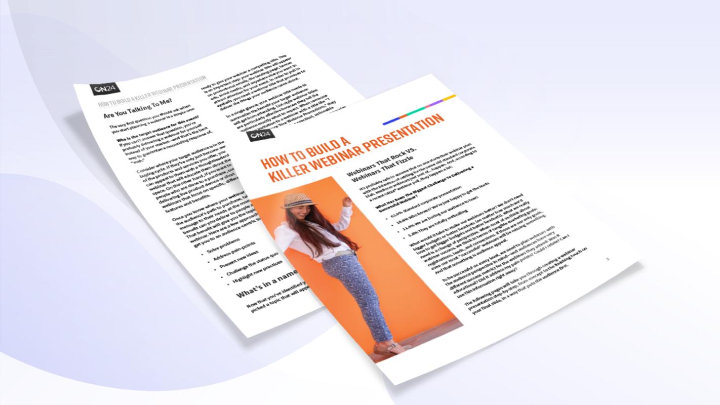 eBook: How to Build a Dynamic Webinar Presentation