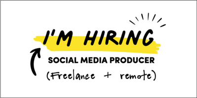 I'm hiring a social media producer to help inspire more creativity in the workplace