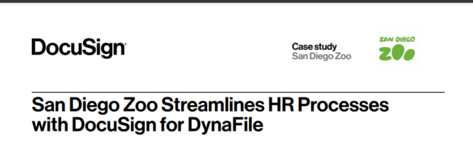 San Diego Zoo Streamlines HR Processes with DocuSign for DynaFile