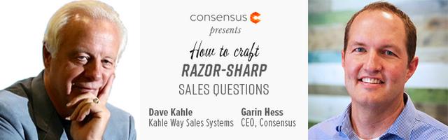 Webinar: How To Craft Razor-Sharp Sales Questions