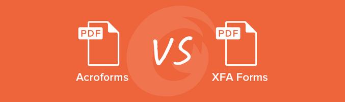 Acroforms vs. XFA Forms - Foxit PDF Blog