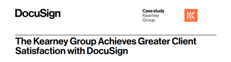 The Kearney Group Achieves Greater Client Satisfaction with DocuSign